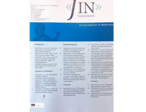 Noot natuurlijke verbintenis in tijdschrift JIN
